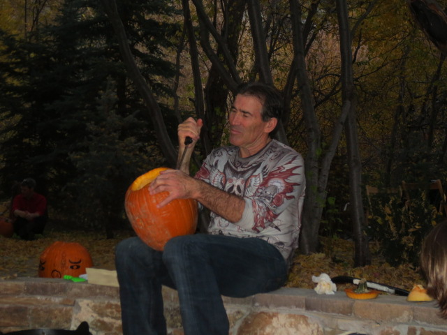 It looks like Craig Tillotson is about to kill the pumpkin