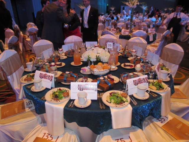 Beautiful setting - hundreds of these tables at the Force For Good gala