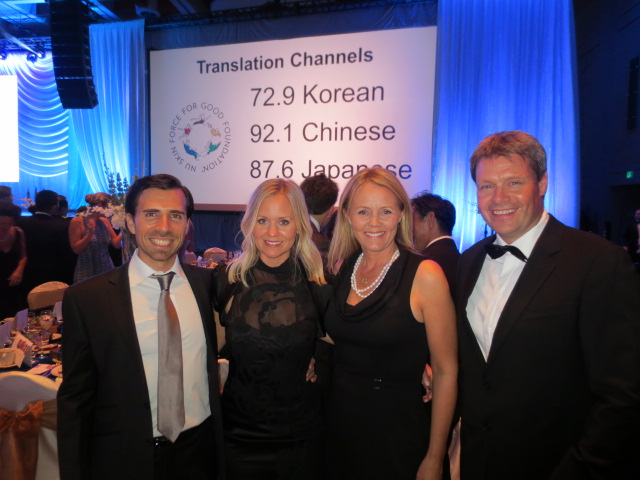 With Max and Hanna - behind you can see translation channels for those not speaking English.  This was a very international event - like any Nu Skin event