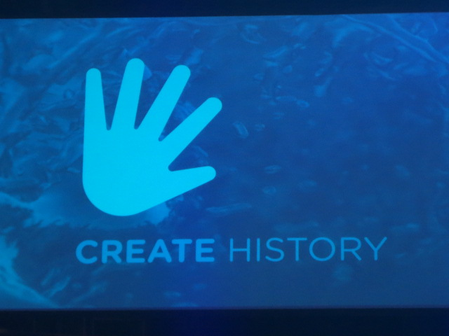 "The Convention slogan this time was ""creating history"" - so fitting!"