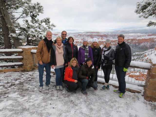 The group at Bryce Canyon: Chris, Liv, Calle, Lena, Hanna, GK, Dora, BS, Anneli and Max