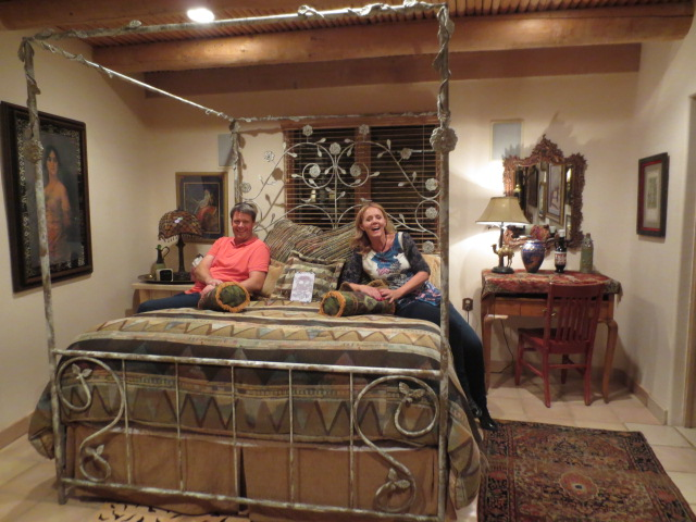 "Benedikt and Gudrun in their ""Egyptian Suite"" - 2nd floor."