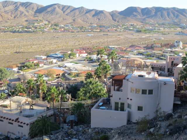 View from the hills above the property.  What a nice setting and part of Boulder City in the background.