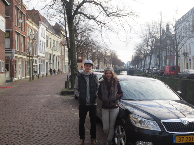 In Gouda on a cold winter day