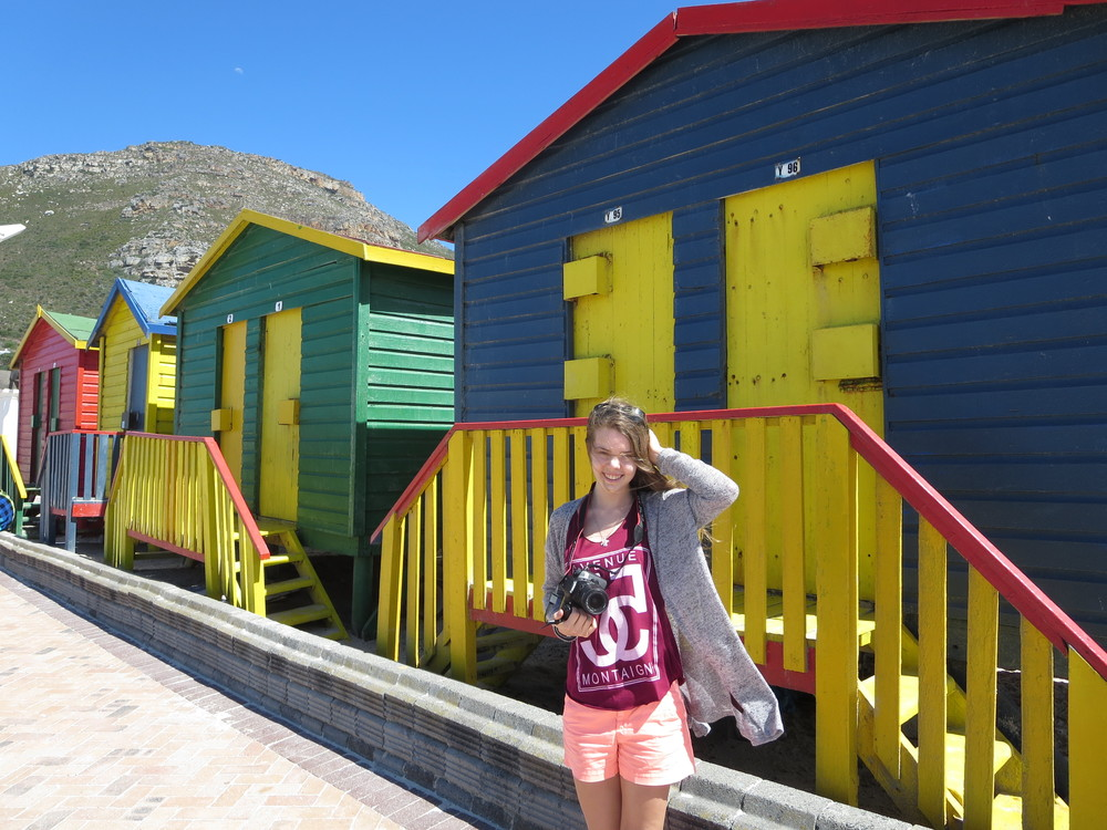 Dora on the beach in Muizenberg