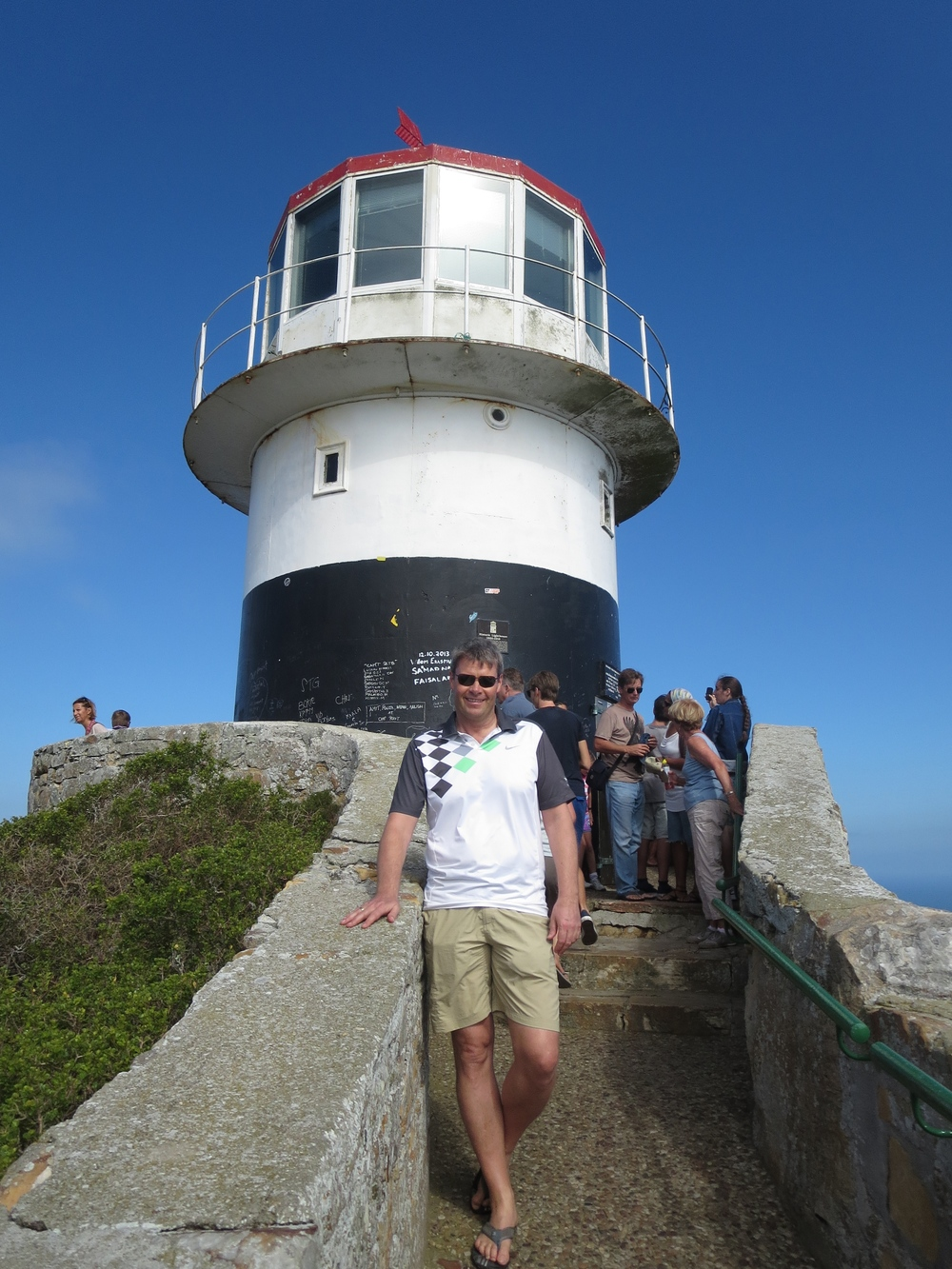 Benni by the lighthouse at Cape Point