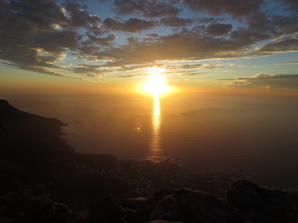 Seeing the sun set over Cape Town is something to remember