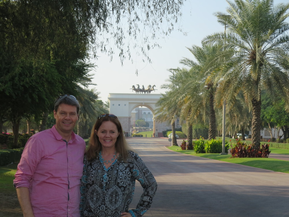 In front of the presidential palace
