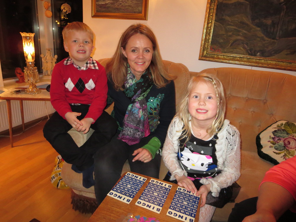 "Gudrun with Daniel Smári and Sunna Karen at ""aft and amma´s"" place in Iceland"
