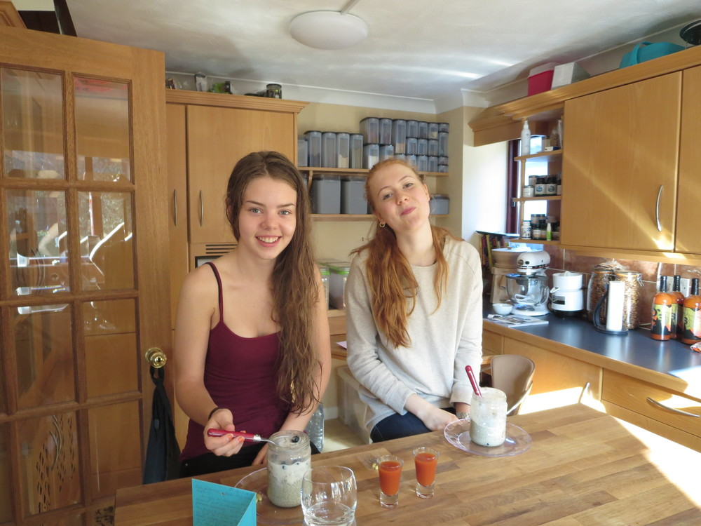 Nieces at breakfast