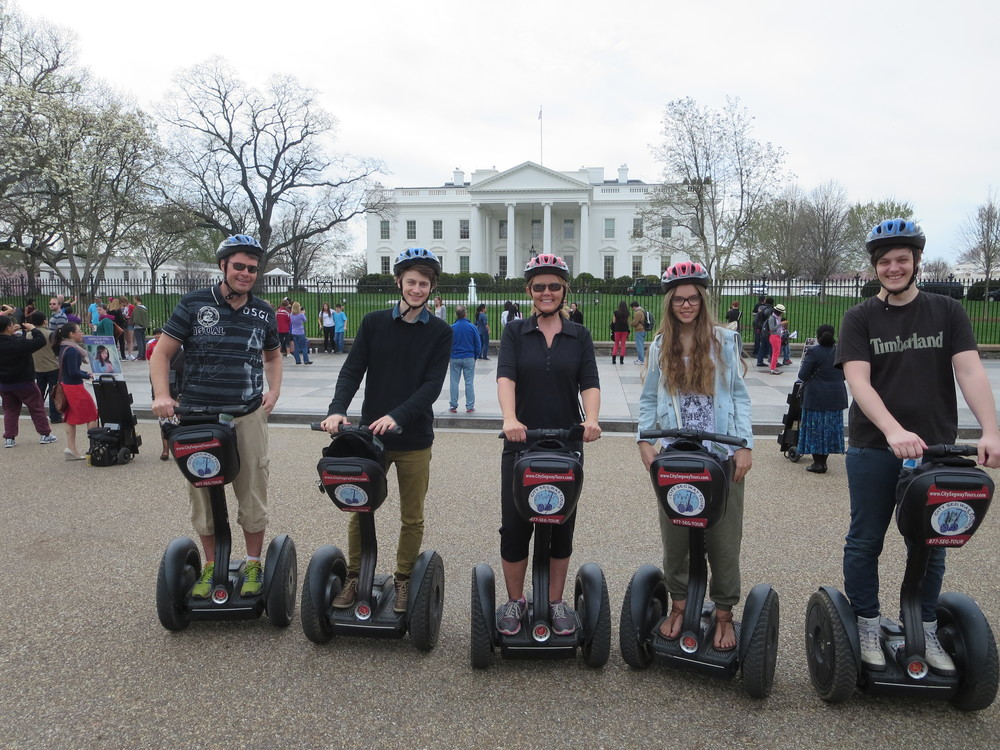 When the boys came we did a fun Segway tour through the Washington Mall