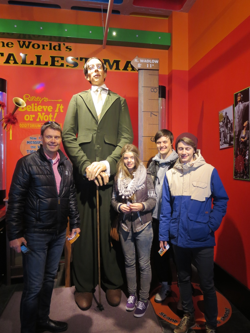 At Ripley´s museum we found the world´s largest man