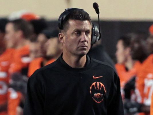 Mike Gundy is super serious. (Photo courtesy:  USAToday.com )