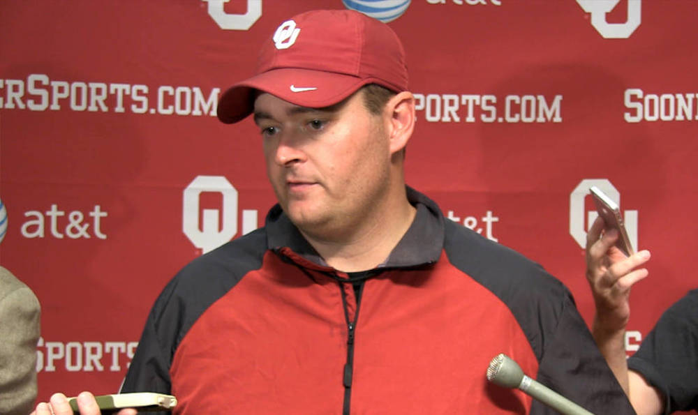 Josh Heupel finds himself in the middle of an offensive quagmire. (Photo courtesy: SoonerSports.com)