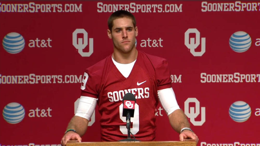 No question who's QB1 this spring for the Sooners. (Photo courtesy: SoonerSports.com)