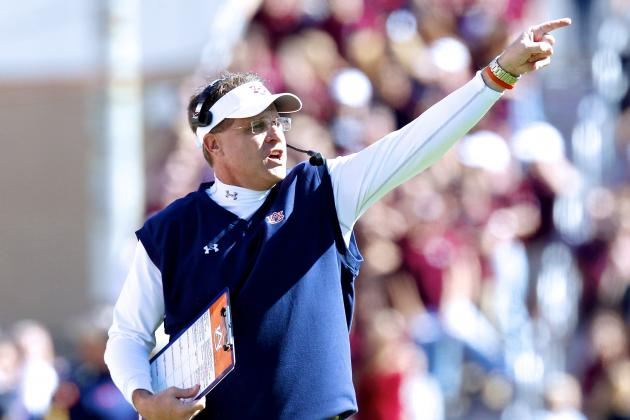 Is Gus Malzahn's offense the healthier alternative? (Photo courtesy: Bleacher Report)
