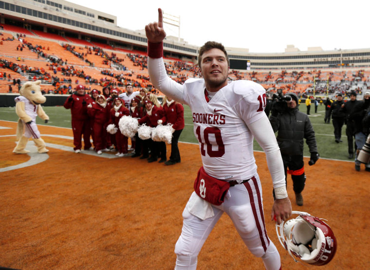 A Bedlam win got OU to double digits last season. Would that satisfy Sooner fans in 2014? (Image courtesy: tulsaworld.com)
