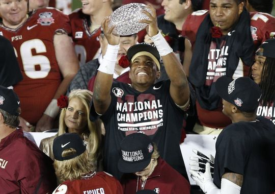 The Seminoles look like a lock for the first College Football Playoff. (Image courtesy: USAToday.com)