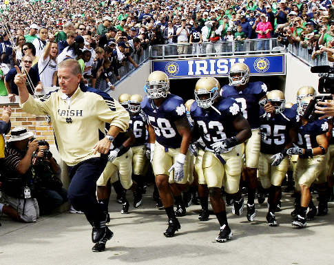 Brian Kelly appears to have a cheating problem. (Image courtesy: USA Today Sports)