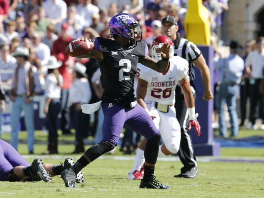 Yes, that Trevone Boykin lit up the Oklahoma defense in TCU's upset win. (Image courtesy: USAToday.com)