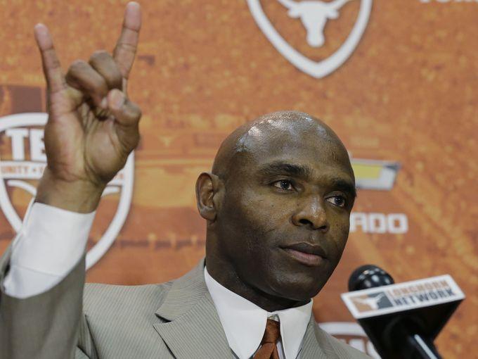 Welcome to OU-Texas, coach. (Image courtest: USAToday.com)
