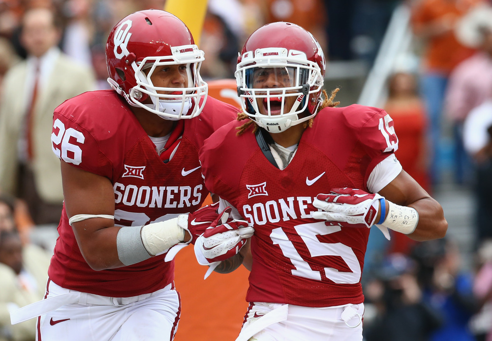 Zack Sanchez's pick-six was one of the biggest plays in a weird, weird win over Texas. (Image courtesy: dallasnews.com)