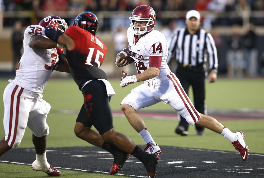 Cody Thomas got a chance to show off his wheels in a win at Texas Tech. (Image courtesy: dallasnews.com)