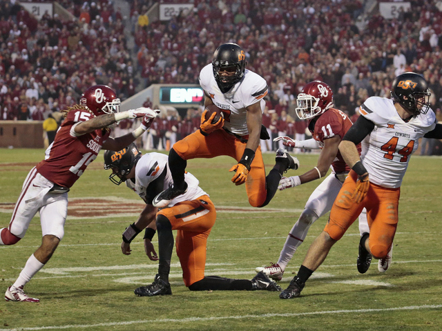 The Pokes flew past Oklahoma in a late Bedlam comeback. (Image courtesy: KJRH.com)
