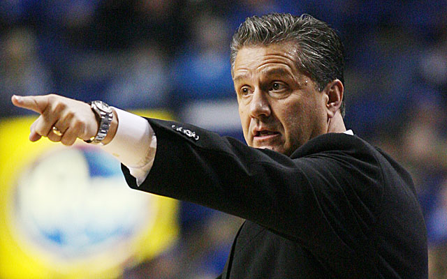 There are literally thousands of pictures on the Internet of John Calipari doing this. (Image CBSSports.com)