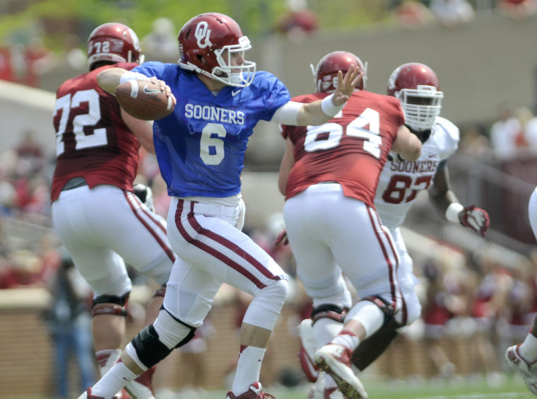 OU fans will see Baker Mayfield in an Oklahoma uniform for the second time ever on Saturday. (Image: enidnews.com)