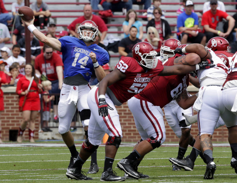 Cody Thomas might have helped himself over the weekend in Oklahoma's quarterback competition. (Image: tulsaworld.com)