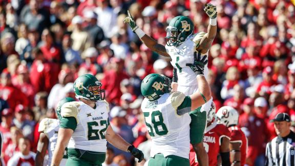 One of many fond memories for OU from last season... (Image: USA Today Sports)