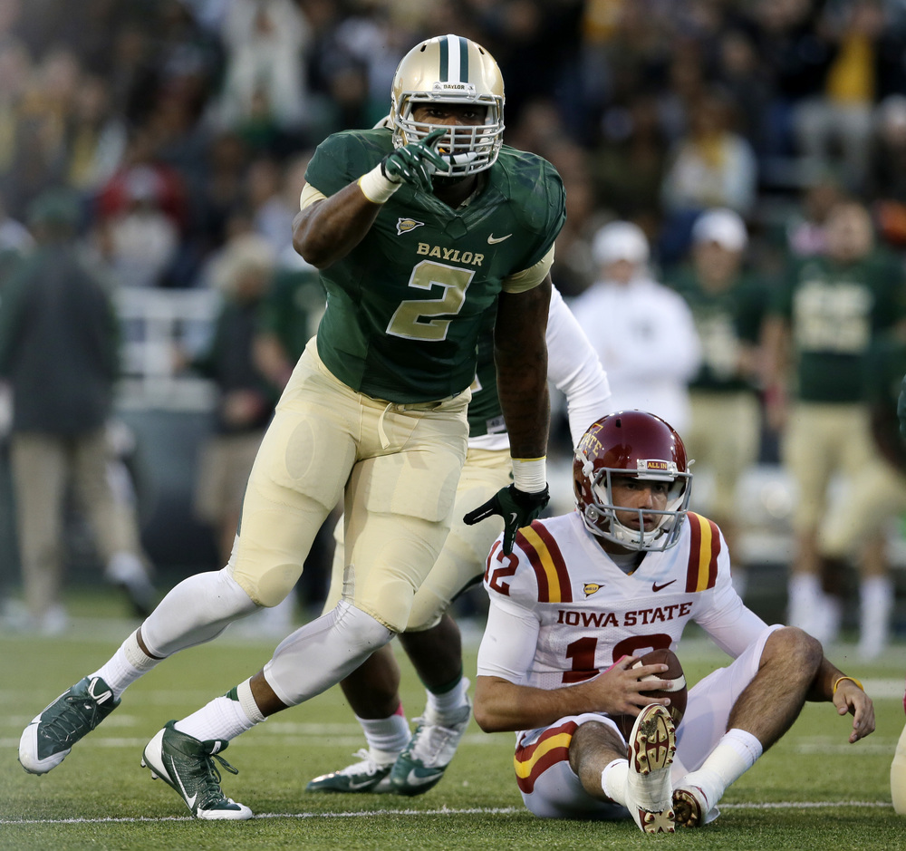 Shawn Oakman and the rest of Baylor's defense are big reasons why the Bears look like this year's Big 12 favorite. (Image: CFTalk.com)