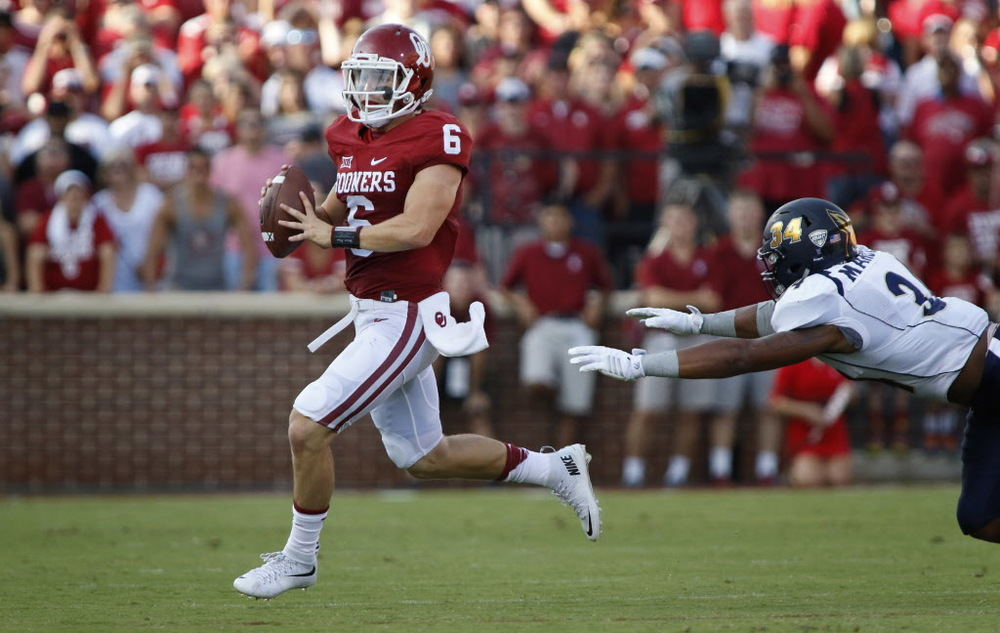 Not too shabby of a debut for Oklahoma's new quarterback. (Image: dallasnews.com)