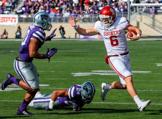 Baker Mayfield and the OU offense breezed through Kansas State. (Image: fairfieldcitizononline.com)