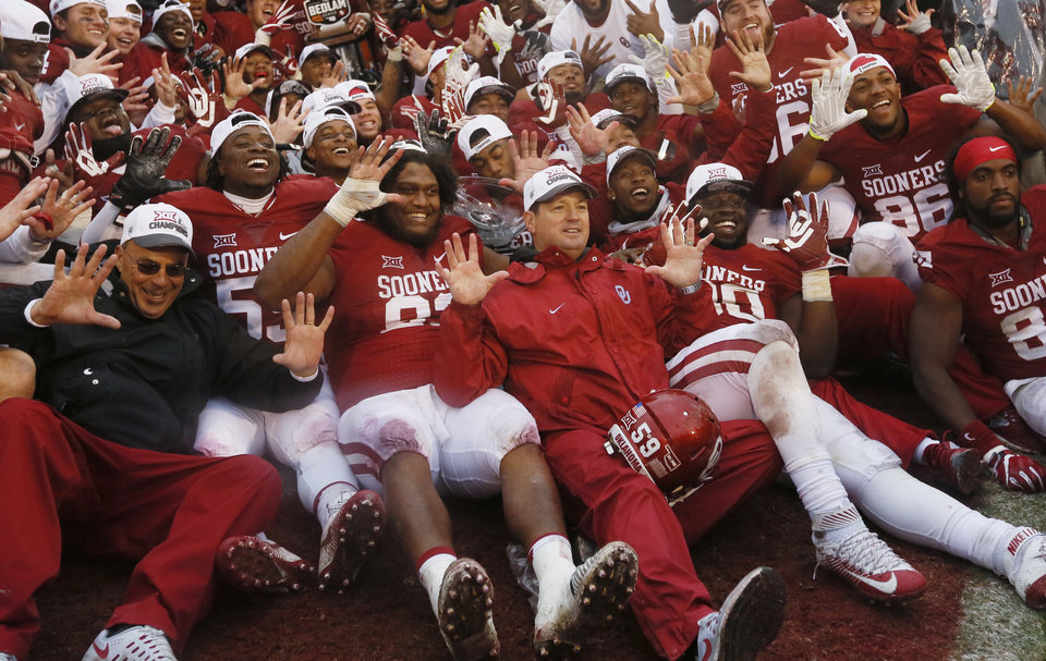 In case you were wondering how many Big 12 championships Bob Stoops has won.