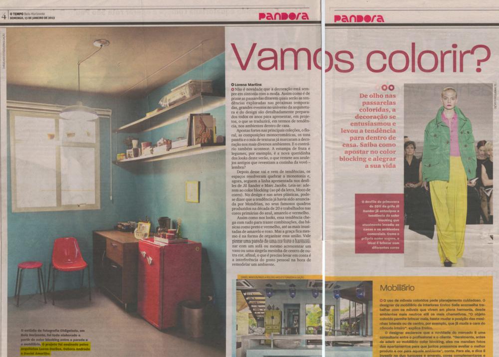Jornal O Tempo, Belo Horizonte, 13 de janeiro de 2013