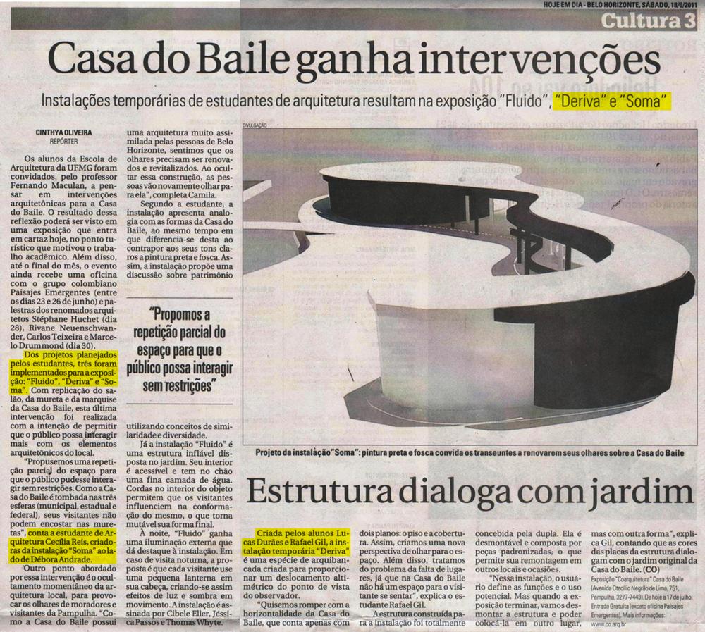 Jornal Hoje Em Dia, Belo Horizonte, 18 de junho de 2011