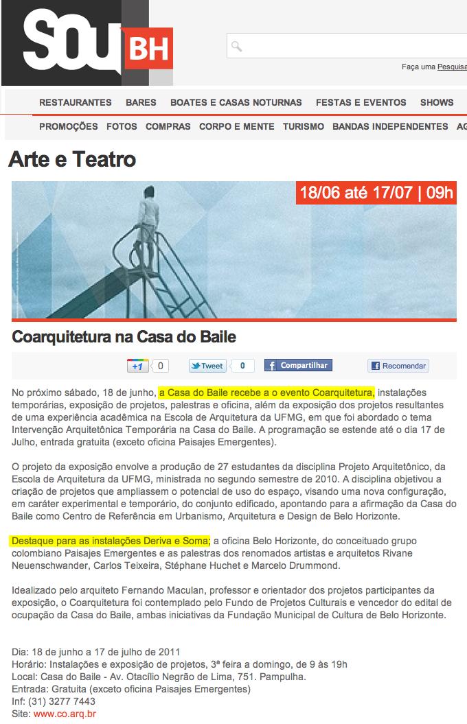 Site Sou BH, Belo Horizonte
