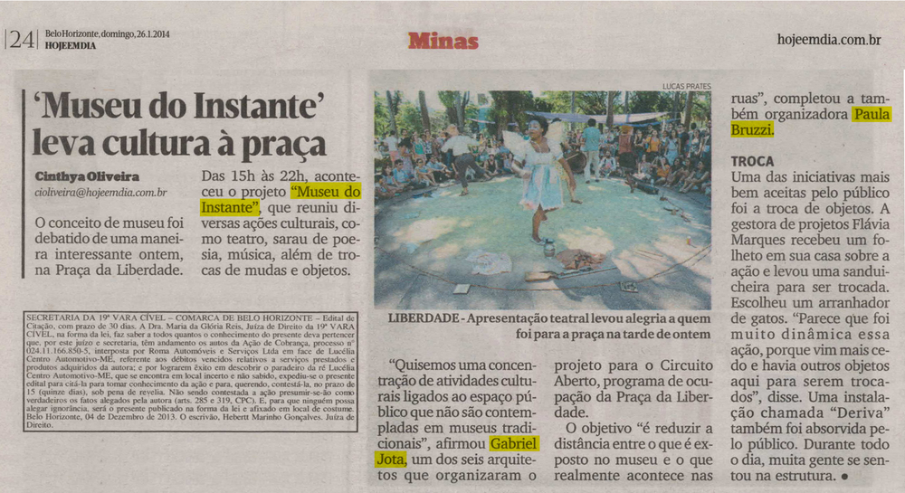 Jornal Hoje Em Dia, Belo Horizonte, 26 de janeiro de 2014