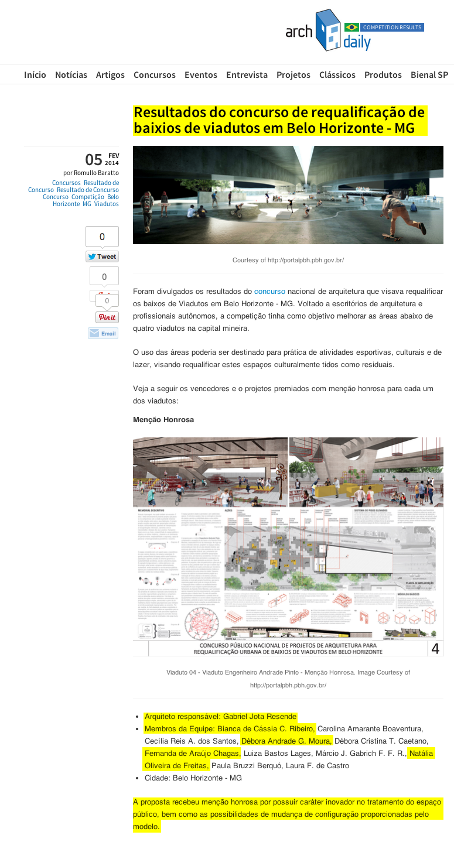 Site ArchDaily, 5 de fevereiro de 2014