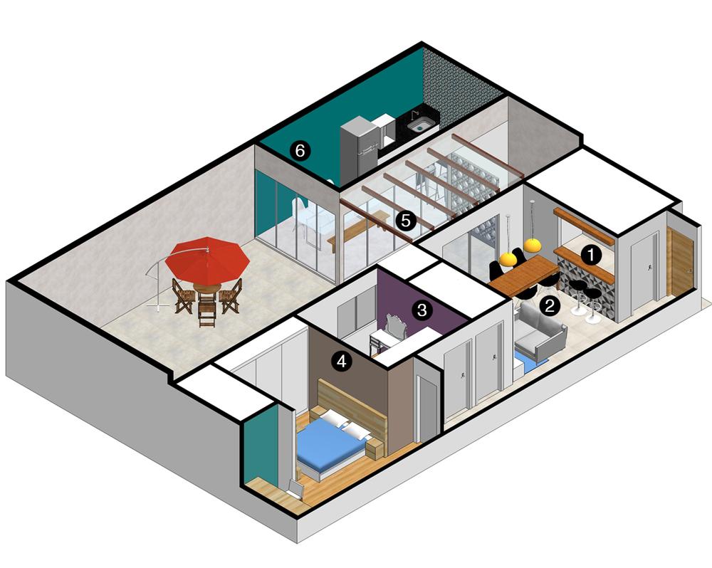 Isométrica Casa CT
