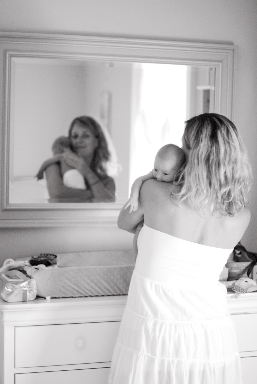 DSC_0244 michelle hold callie in mirror B&W.jpg