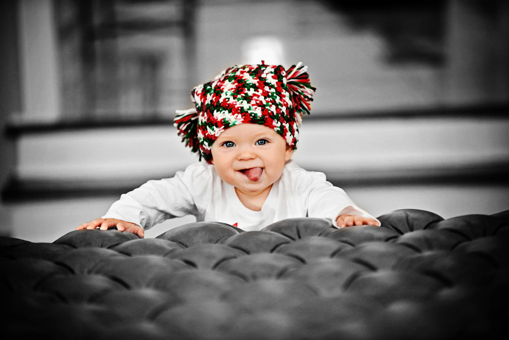 DSC_9581 xmas hat stick tongue BW colorized FINAL web.jpg