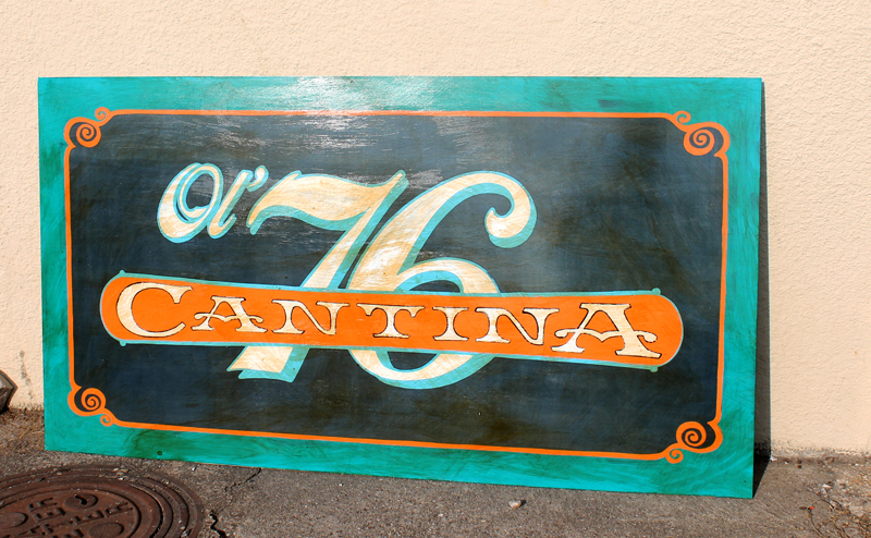 New sign for our friends at Ol' 76 Cantina. Check them out at the Denton Farmer's Market Saturday (I hear they make some mean jam, and I am eager to try their mexican style iced hot chocolate concoction)