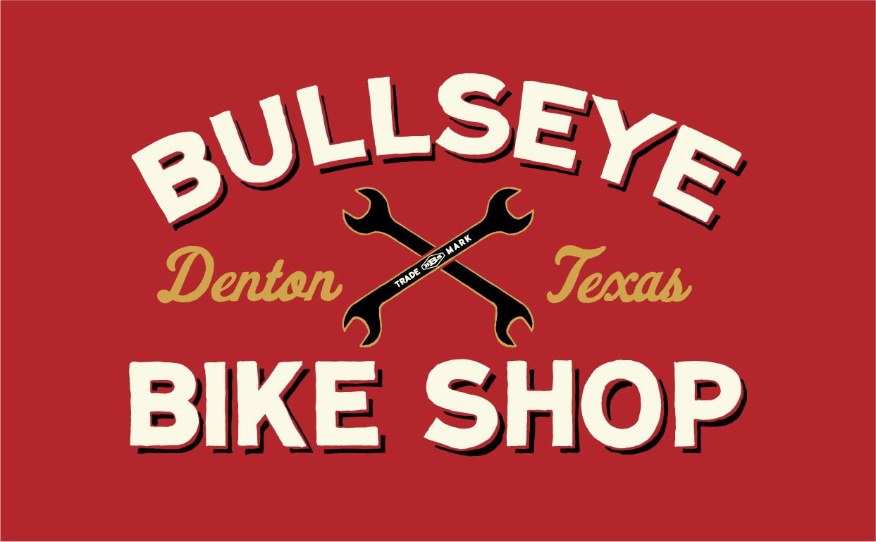 SNEAK PEEK: New logo, the first of our branding campaign goodies for our friends at Bullseye Bike Shop. https://www.facebook.com/pages/Bullseye-Bike-Shop/243345593585?fref=ts