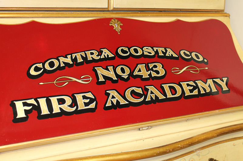 Hand Painted & Gold Leaf Fire Department Signage