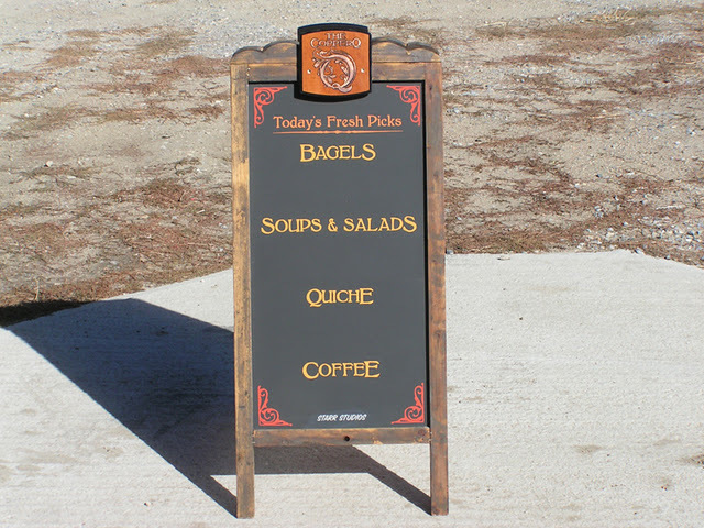 Hand Painted Chalkboard Sandwich Board Sign