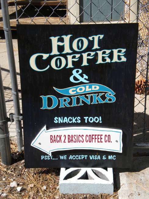 Hand Painted Coffee Shop Sign