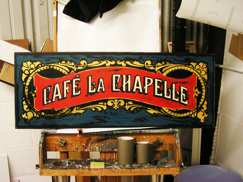 Hand Painted Cafe Sign